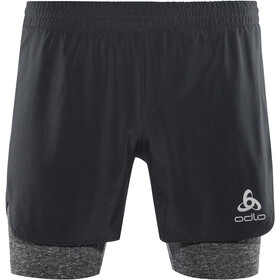 Odlo Millennium Linencool PRO 2 in 1 Shorts Heren, black-black